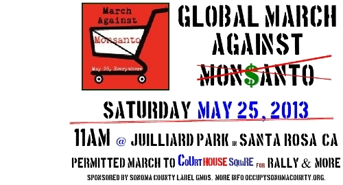 March Against Monsanto event: 5/25/2013
